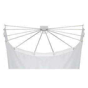 Support parapluie pour rideau de douche avec 12 bras, acier inoxydable WENKO