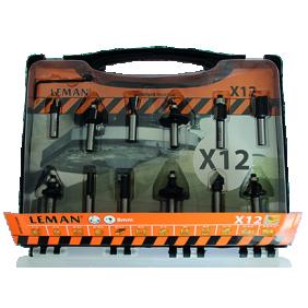 Coffret de 12 mèches carbure à queue cylindrique LEMAN