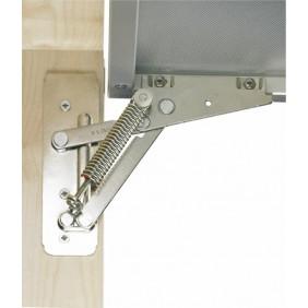 Compas d'abattant Lift 90 pour portes de placard aluminium - 90° HETTICH