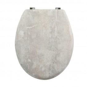 Abattant Wc Mdf - Charnieres Inox - Stonehenge SPIRELLA