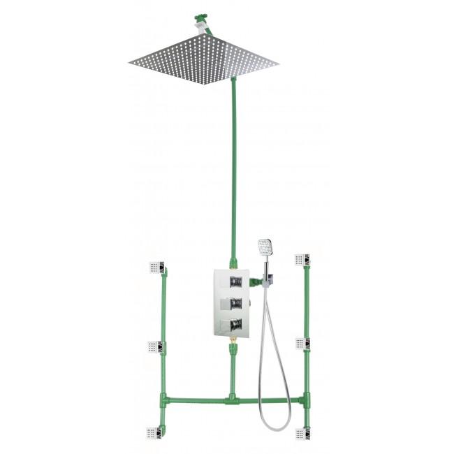 Colonne de douche encastrable plafond LOCK 50 avec mitigeur MONCALIERI SARODIS