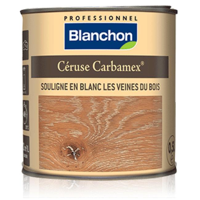 Céruse - souligne les veines du bois en blanc - Carbamex BLANCHON