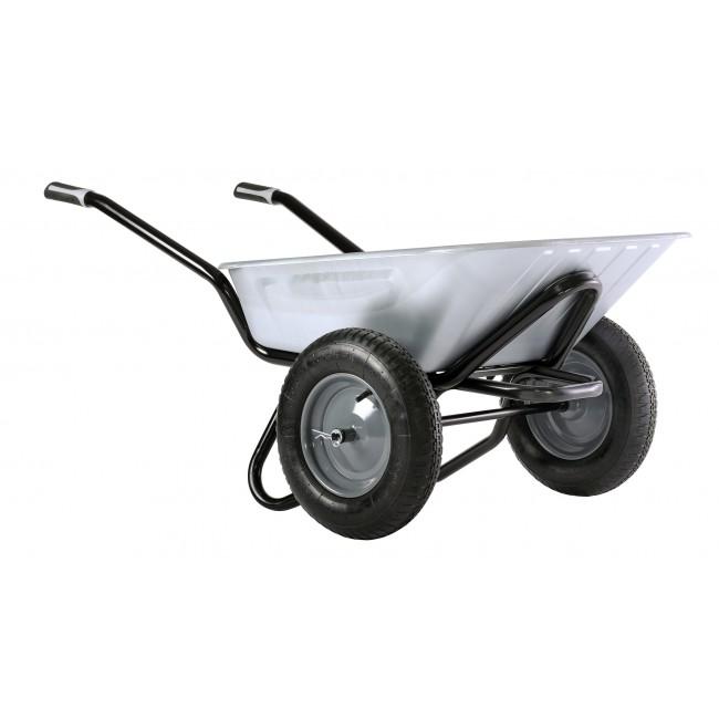 brouette 2 roues gonfl es 100 l caisse galvanis e aktiv excellium twin haemmerlin bricozor. Black Bedroom Furniture Sets. Home Design Ideas