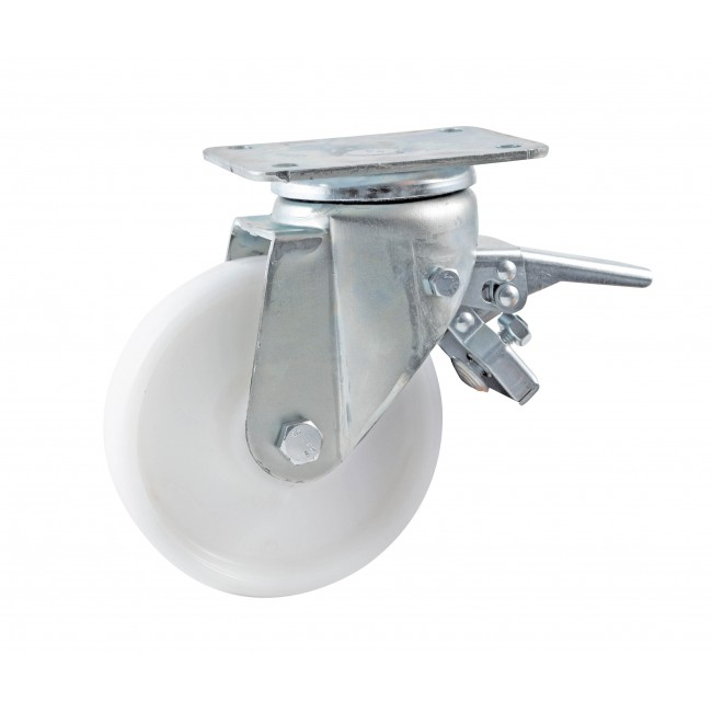 Roulette en polyamide sur platine pivotante à frein- charge 200 à 800 kg AVL
