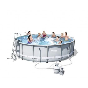 Piscine tubulaire ronde - 488x122cm - Power Steel Frame Pools BESTWAY