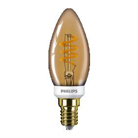 Ampoule LED - 3,5W - E14 - flamme - ambrée - LEDCandle PHILIPS (SIGNIFY FRANCE)