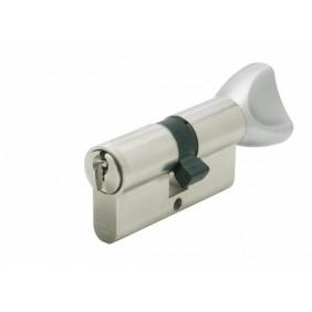 Cylindre V5 3111 à bouton s'entrouvrant sur variure UA 1001, laiton nickelé VACHETTE