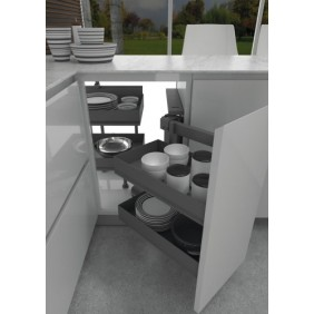 Ferrure pour meuble d'angle Dynamic Corner 803 - Ikona INOXA