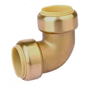 Raccord coude laiton -automatique  égal - différents diamètres -Toutub BOUTTÉ