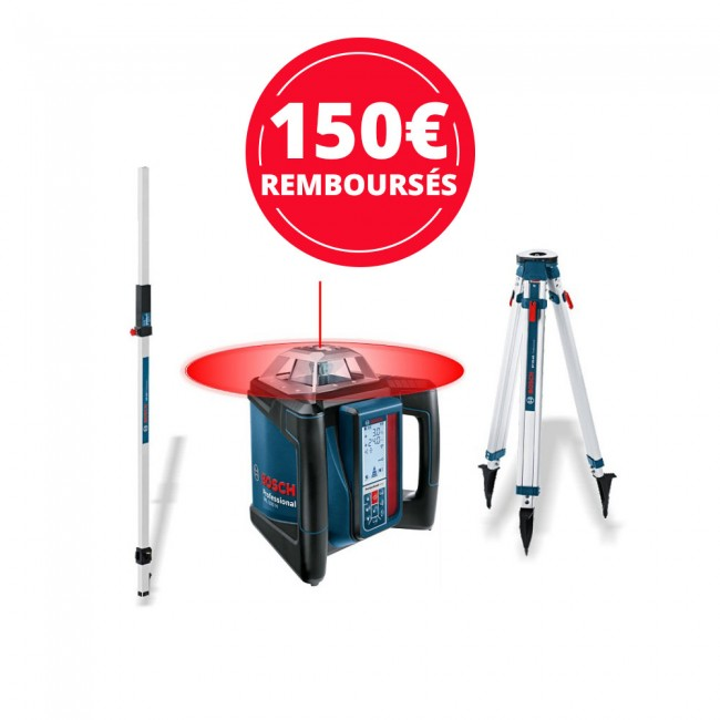 Laser rotatif GRL 500 HV + cellule de réception + trépied + mire