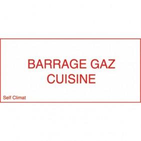 Panneau réglementaire ''Barrage gaz cuisine'' CODITHERM