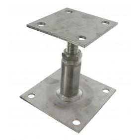 Pied de poteau sur platine - réglable 100 à 130 mm - inox 316 - PPRIX SIMPSON Strong-Tie