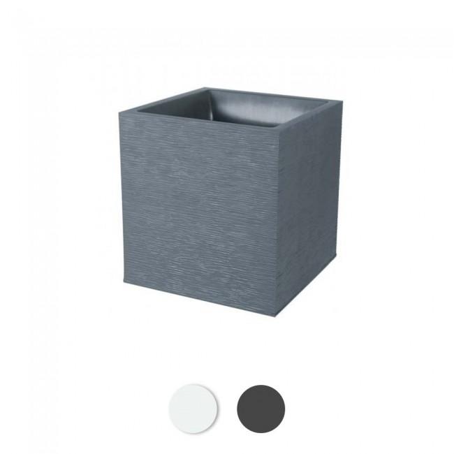 Pot carré Graphit - double paroi - traitement anti-UV EDA PLASTIQUES