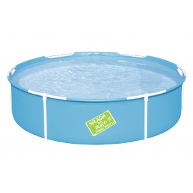 Piscine enfant tubulaire ronde - 153x38cm - My First Frame Pool BESTWAY
