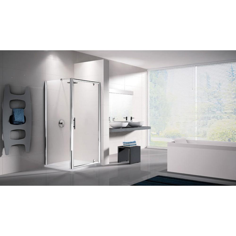 porte de douche pivotante verre transparent lunes g 72 78 cm novellini bricozor. Black Bedroom Furniture Sets. Home Design Ideas