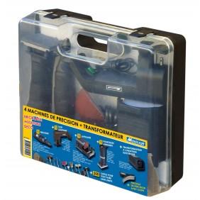 Coffret 4 machines de précision 12V + 200 outils MAXICRAFT