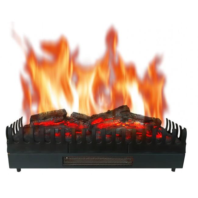 Foyer à bûches avec effet flammes et chauffage XL- 2000W CHEMIN' ARTE