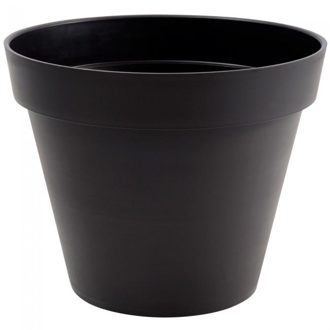 Pot rond gris anthracite - 100 cm - 356 litres - Toscane 13634 EDA PLASTIQUES