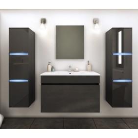 Ensemble meuble de salle de bains 80cm+ 2colonnes avec LED-2 finitions BAIN ROOM