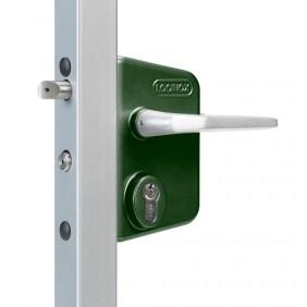 Serrure  inox vert pour portail battant - fouillot à cylindre européen - LAKQ 40 LOCINOX