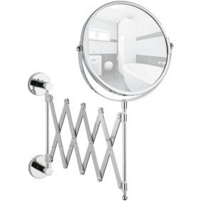 Miroir grossissant x3 - Mural - télescopique - Power-loc WENKO