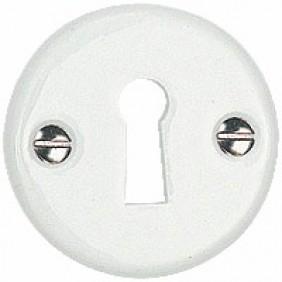 Rosace ronde pour poignée de porte en porcelaine MÉRIGOUS