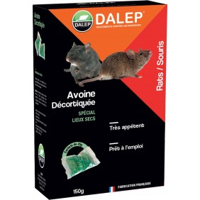 Raticide-souricide – sur avoine décortiqué – prêt à l'emploi – 150 g DALEP