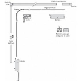 Tringle - pour ferme-imposte extra-plat Ventus F 200 FERCO