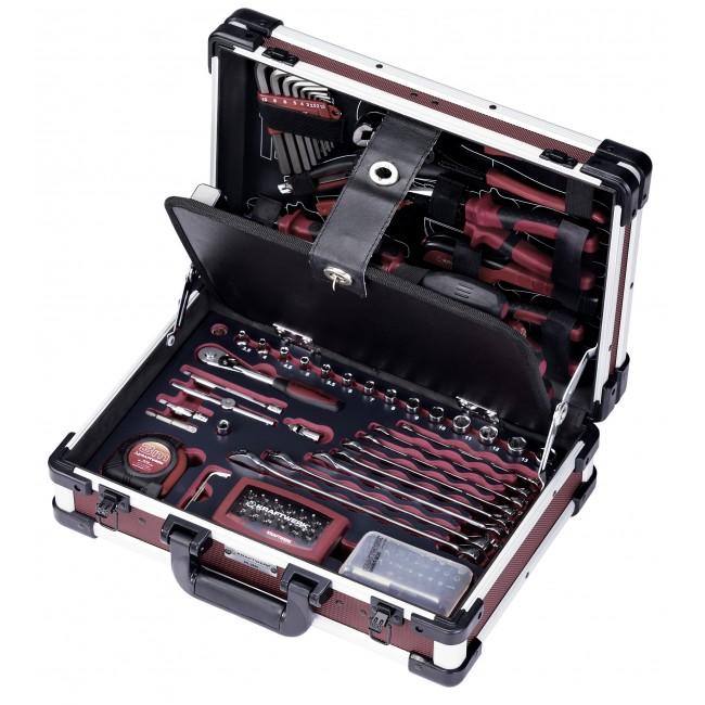 Coffret outils professionnels en aluminium - 123 pièces KRAFTWERK