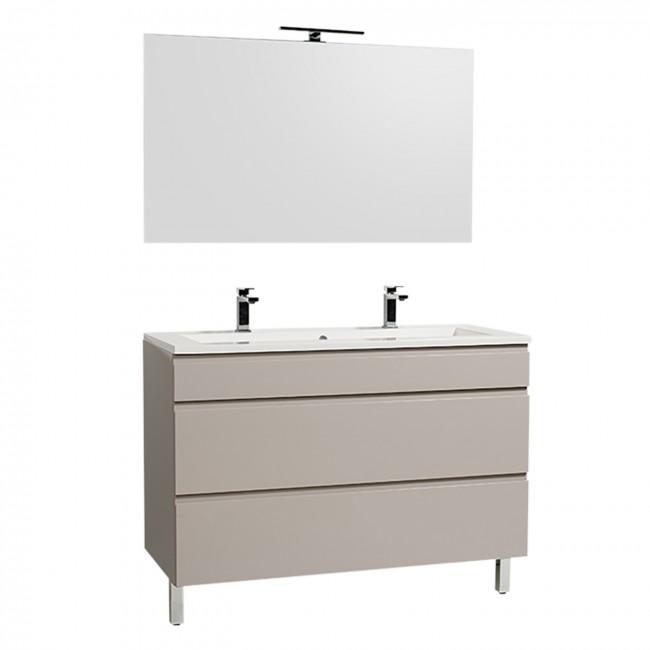 Meuble de salle de bains et miroir - Adele reposant - 120 cm - 2 finitions BATHDESIGN