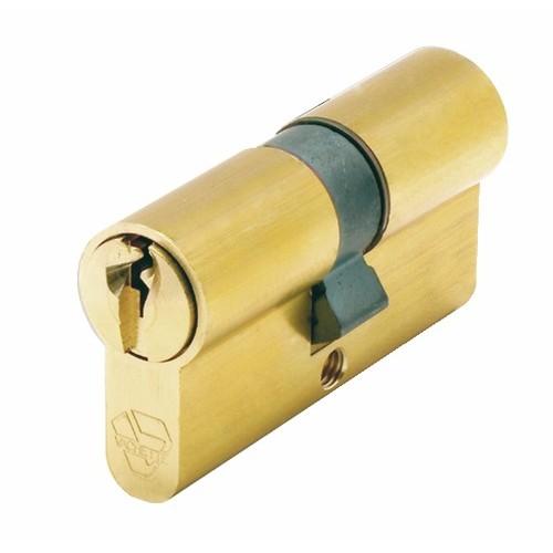 Cylindre double V5 7100 s'entrouvrant sur variure UA 1001, laiton poli
