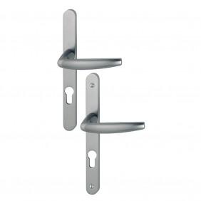 Poignée de porte sur plaque étroite - aluminium anodisé - Atlanta HOPPE