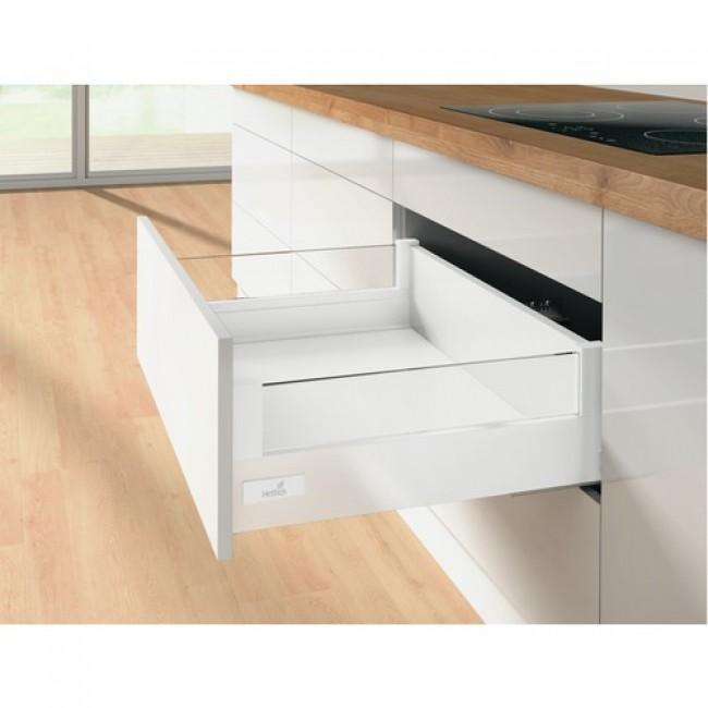 kit tiroir designside verre innotech atira hauteur 144mm blanc hettich bricozor. Black Bedroom Furniture Sets. Home Design Ideas