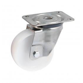 Roulette polyamide sur platine inox pivotante  - chape renforcée AVL