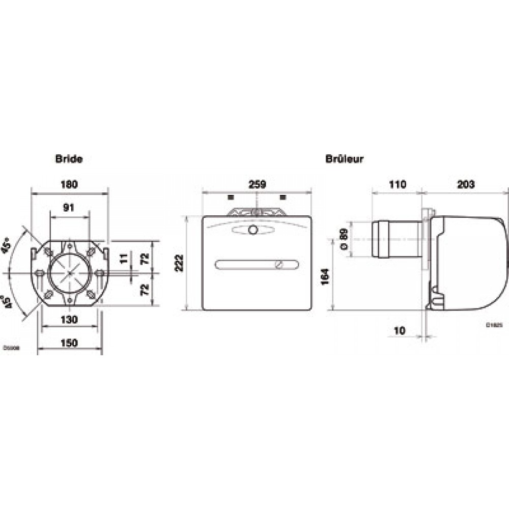 br leur fioul domestique millenium ip40 g3 riello bricozor. Black Bedroom Furniture Sets. Home Design Ideas