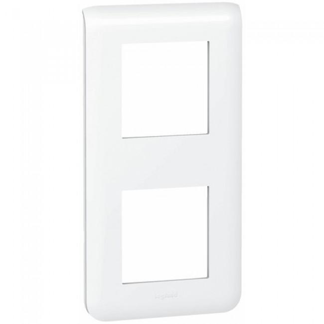 Plaque décorative verticale blanche - 2 x 2 modules - Mosaic LEGRAND