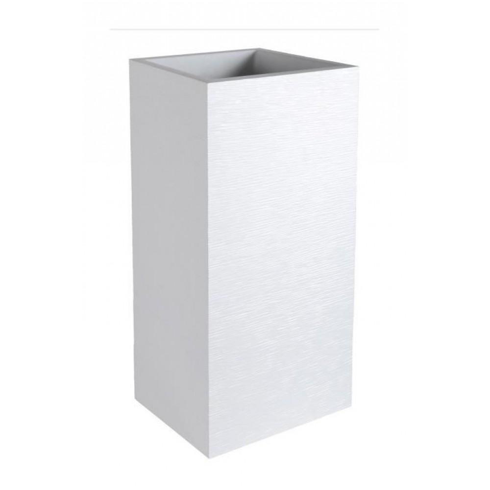 pot carr hauteur 80 cm contenance 31 litres graphit blanc c rus eda plastiques bricozor. Black Bedroom Furniture Sets. Home Design Ideas