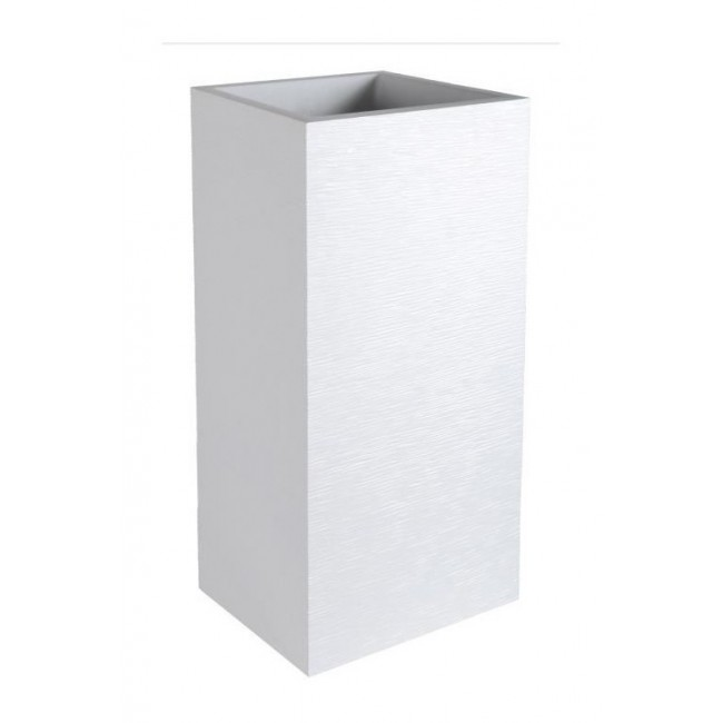 Pot carré - hauteur 80 cm - contenance 31 litres - Graphit blanc cérusé EDA PLASTIQUES