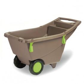 Brouette 2 roues plastique - couleur taupe - 140 litres EDA PLASTIQUES