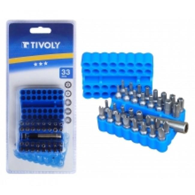 Coffret de 32 embouts de sécurité + porte embout 1150152-0032 TIVOLY