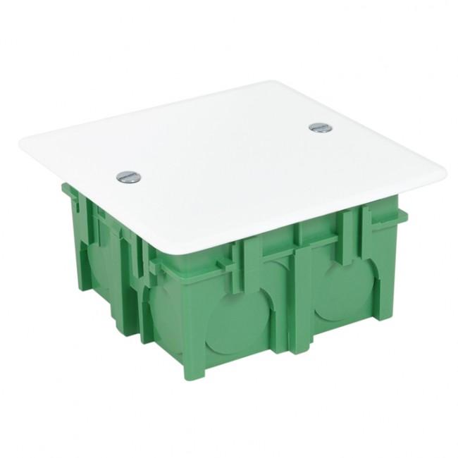 Boite d'encastrement de maçonnerie avec couvercle vert DEBFLEX