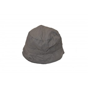 Chapeau femme matelassé et imperméable gris - 100% polyester France Textile