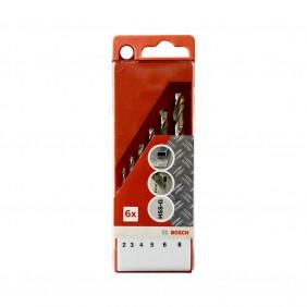 Coffret 6 forets à métaux HSS-G 2/3/4/5/6/8 mm - 2609257060 BOSCH