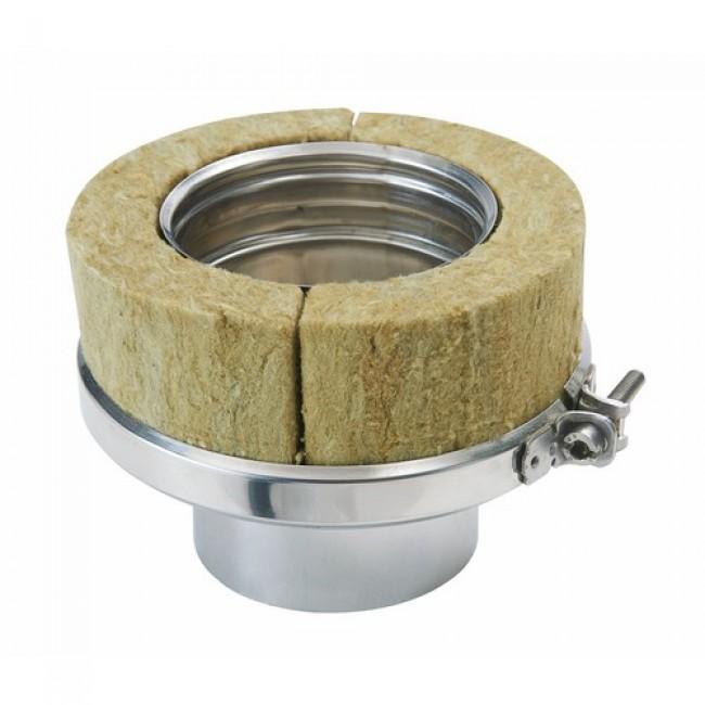 Raccord conduit pellets - simple / double paroi - 80 x 130 mm - Duoten TEN