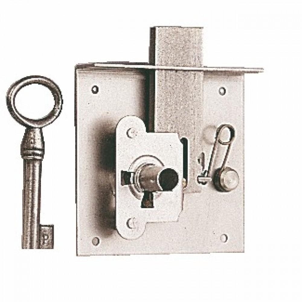 serrure entailler pour meuble ou tiroir rustique 70mm bricozor. Black Bedroom Furniture Sets. Home Design Ideas