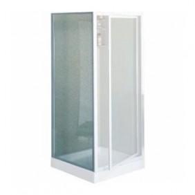 Paroi douche fixe verre granité Riviera F - réglable de 78 à 82 cm NOVELLINI