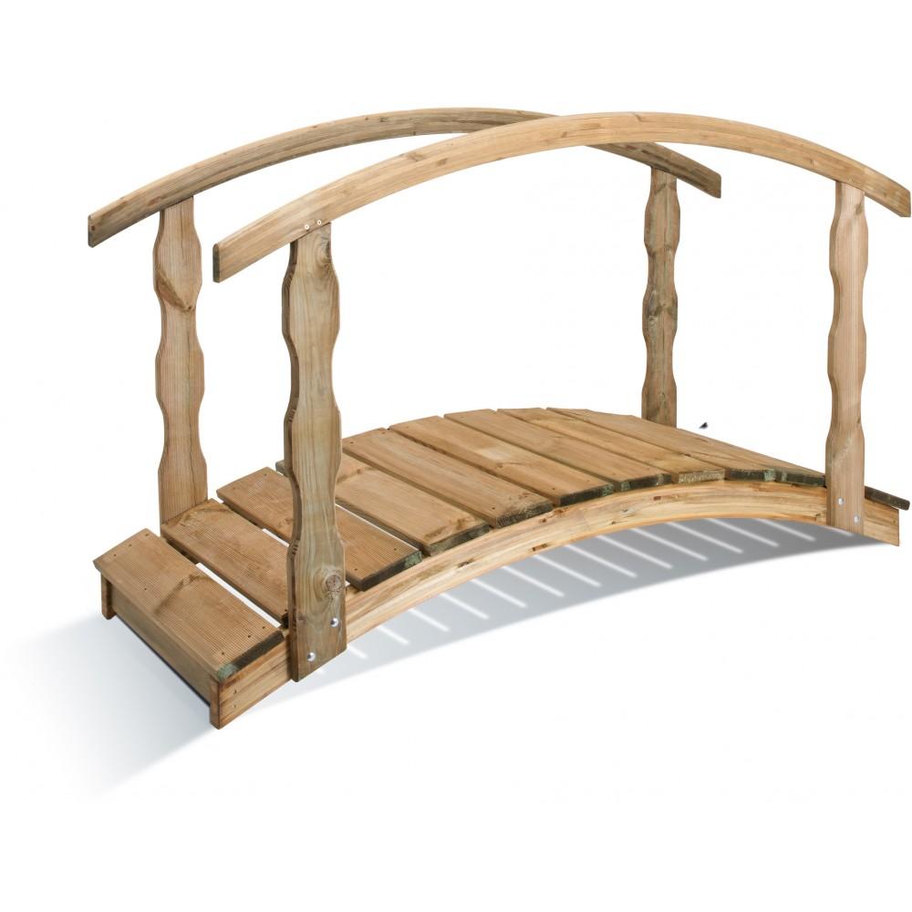 Pont en bois longueur 180 cm quebec bricozor - Pont de bois jardin ...