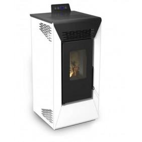 Poêle à granulés Air - Anita - 9 kW - Blanc/ Bordeaux /Marron ou Noir Sannover