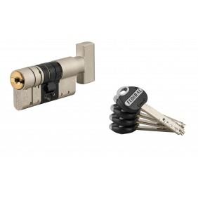 Cylindre à bouton Federal 2 - haute sécurité - 5 clés FTH THIRARD