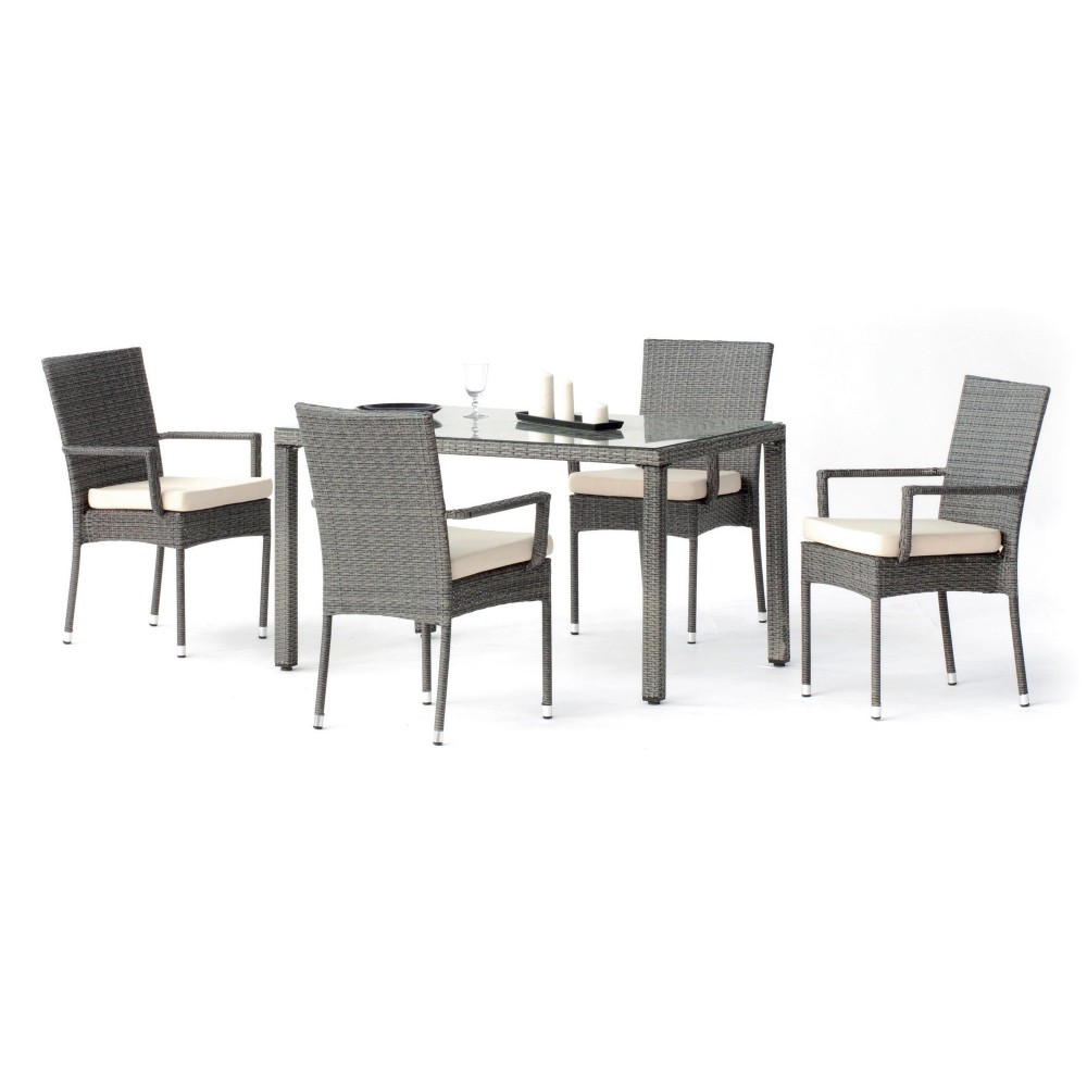 table de jardin mali 1 table 4 fauteuils 4 coussins hevea bricozor. Black Bedroom Furniture Sets. Home Design Ideas